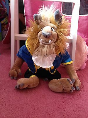 Disney Store Exclusive beauty and the beast large Beast plush Rare