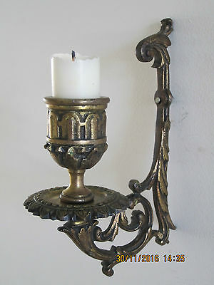 ANTIQUE FRENCH CANDLE BRACKET - Genuine