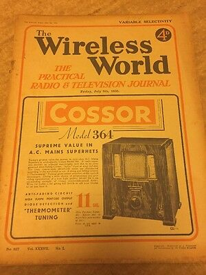 The Wireless World July 1935 Collectables Magazines Vintage