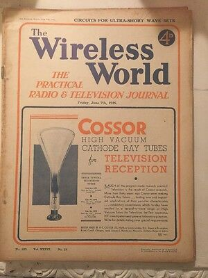 The Wireless World June 1935 Collectables Magazines Vintage