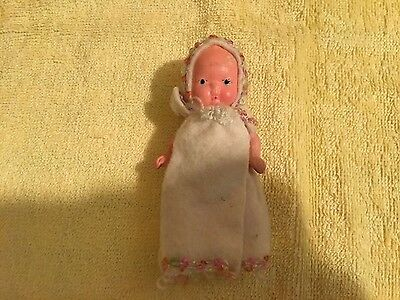 Vintage Bisque 3.5' Baby Doll 1930's Japan