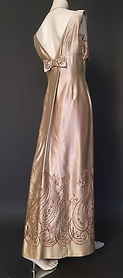 VINTAGE WEDDING DRESS_Satin_1960's_Gatsby Vibe_10-12_38/40_US 6/8