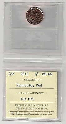 Canada 2012 Penny Iccs Graded  Ms 66  Magnetic Trend $30.00 Check It Out*******