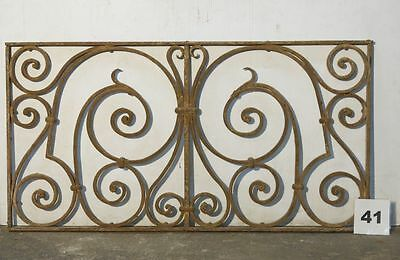 Antique Egyptian Architectural Wrought Iron Panel Grate (IS-041)