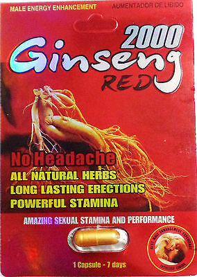 Buy One Get One Free! Red Ginseng 2000 Male Sexual Enhancement Capsules