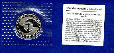 5 DM BRD Umweltkonferenz 1982 F Original PP Bad Homburg Gedenkmünze - TOP-