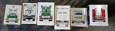 Hess Truck Lot 6 unopened trucks: 95,97,02,03,04,05