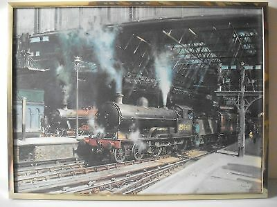 'TERRANCE CUNEO' STEAM ENGINE RAILWAY FRAMED PRINT showing the famous mouse