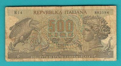 Italy banknote 500 lire