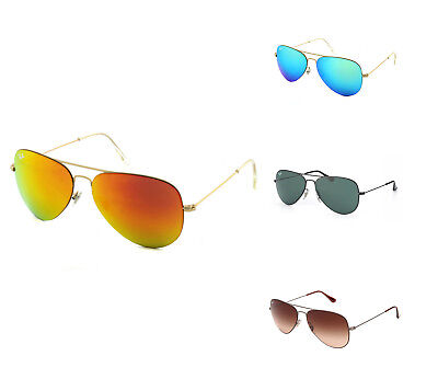 Brand New!! Ray-Ban Aviator Flat Metal Sunglasses