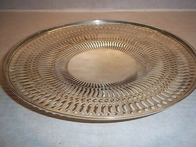 Sterling Silver Antique Whiting Reticulater Platter Over 11 Ounces
