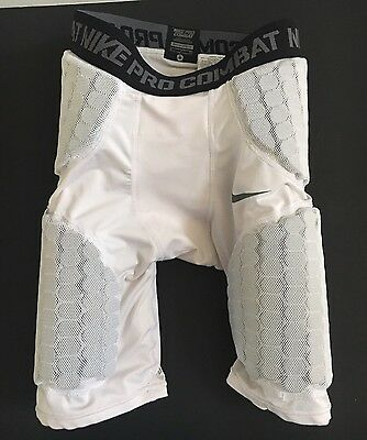 Nike Pro Combat Padded Compression Athletic/Football White Shorts Sz Small Youth