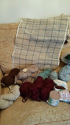 Redicut Rug Canvas Wool Patons Turkey Rug Wool Skeins Bundle