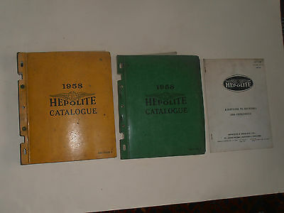 Hepolite  1958 Parts Catalogue Motor Cycles,cars Commercial Vehicles