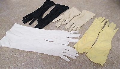 Four Pair Original Vintage 1940S Onwards Gloves