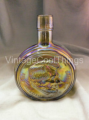Wheaton N.J. Abraham Lincoln 1st Edition Carnival Glass Bottle, Decanter
