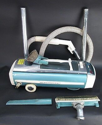 Vintage Electrolux Automatic Control Canister Vacuum Cleaner with Extras