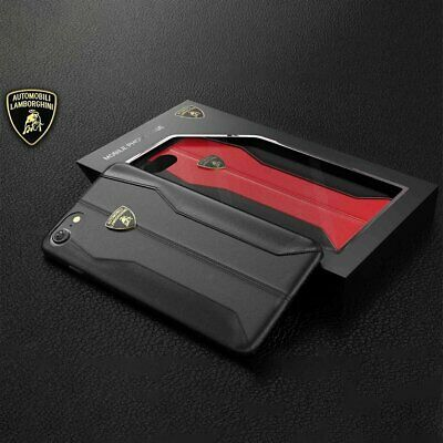 LAMBORGHINI HURACAN D1 GENUINE LEATHER iPhone 7, iPhone 8 Back Case Cover Black
