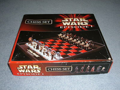 Rare Star Wars (Episode 1) Chess Set 1999 - Exc.cond With Original Box