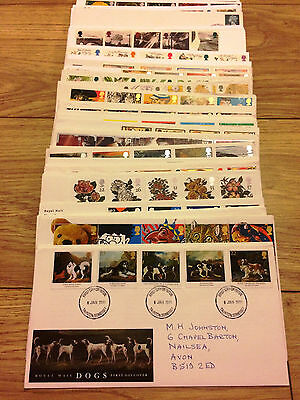 Job Lot of 54 UK GB FDC's First Day Covers from 1991 to 1995 Lot #A136