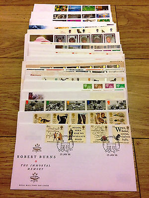 Job Lot of 54 UK GB FDC's First Day Covers from 1996 to 2000 Lot #A137