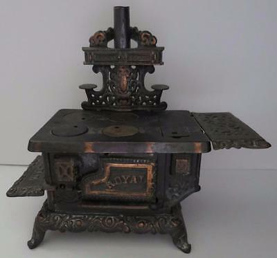 Antique Royal Kenton Toy Cast Iron Salesman Sample Wood Cook Stove
