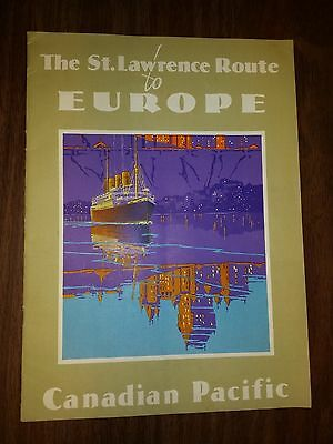 1930 Canadian Pacific Steamships White Empresses of the Atlantic Brochure