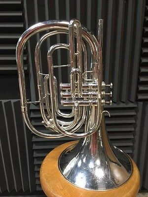 KING 1122 SILVER MARCHING FRENCH HORN MELLOPHONE Bb