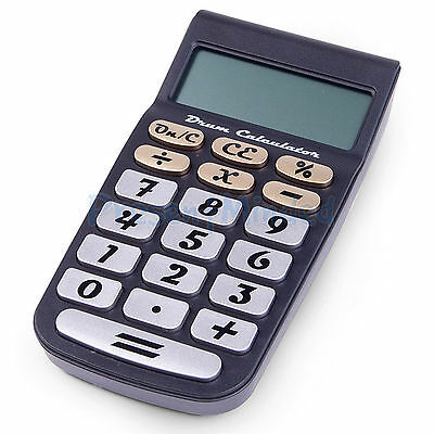 Drum Kit Calculator Office Novelty Gadget With standard mode and Drum kit mode