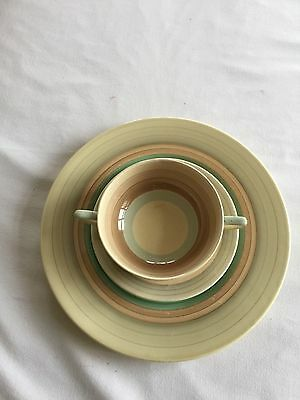 susie cooper wedding ring pattern set, plate side plate and bowl