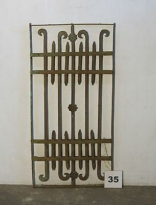 Antique Egyptian Architectural Wrought Iron Panel Grate (IS-035)