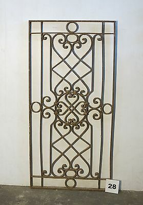 Antique Egyptian Architectural Wrought Iron Panel Grate (IS-028)