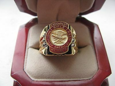 """NEW! Gents """"NRA Endowment Member"""" CREST Ring"""