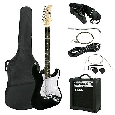 """Zeny 39"""" Full Size Electric Guitar with Amp Case and Accessories Pack Beginne..."""