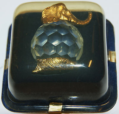 Crystal Menargerie Elephant Paperweight - Italy