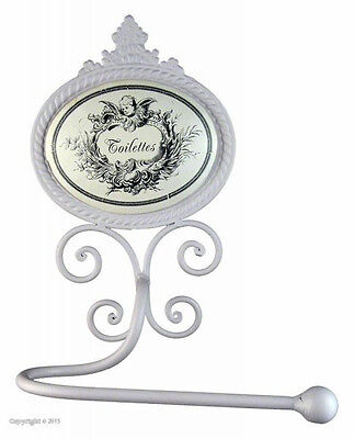 Shabby Vintage French Chic Wall Mounted Angel Toilet Roll Holder