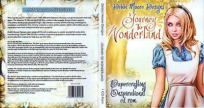 !new! Debbie Moore Designs Journey To Wonderland Papercrafting Cd - Colour