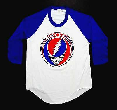 Grateful Dead Shirt T Shirt Vintage 1985 Owsley Stanley Belt Buckle GDP New L
