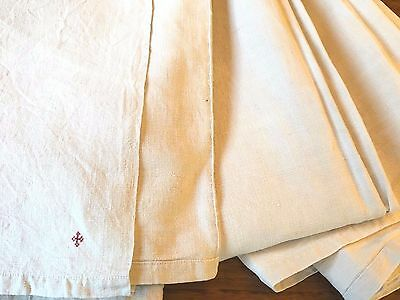 French Linen Antique Bed Sheet Upholstery Fabric