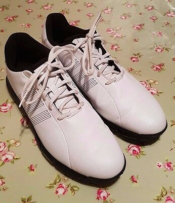 Adidas Golf Shoes Trainers - Size 9 - White - Excellent Condition