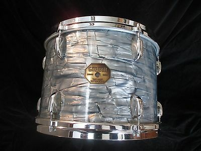 Vintage Gretsch Stop Sign 13 x 9 Tom, Blue Diamond Pearl, Late 1960s/Early 60s!