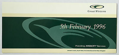 GREAT WESTERN Commemorative Ticket February 1996 in Card Wallet – Mint Condition