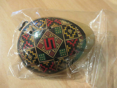 Painted ocarina musical percussion wind instrument brand new
