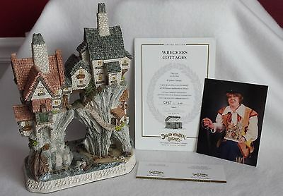 "David Winter Cottages "" Wreckers Cottages"" - By John Hine - COA - # 0267 / 4,300"