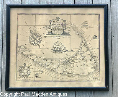 Antique Map of Nantucket by Austin Strong 1921