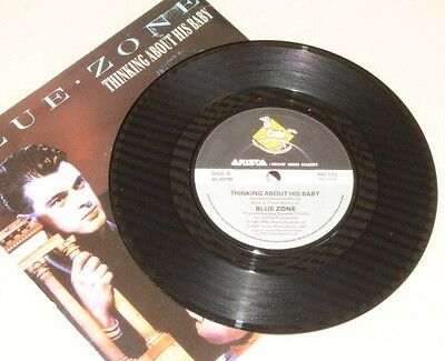 """BLUE ZONE Thinking About His Baby (1987 deleted UK 7"""" vinyl single) EX/EX"""