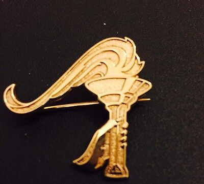 Hallmarked 9ct Gold Olympic Torch Brooch