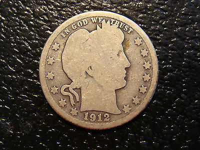 Better Date 1912-S Barber Quarter WE COMBINE ON SHIPPING