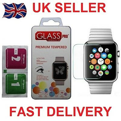 Genuine 42mm Tempered Hard Glass For Apple Watch iWatch 9H UK SELLER