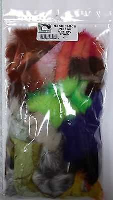 "HARELINE  RABBIT HIDE PIECES VARIETY PACK   "" BIG LOT OF HIDE "" very nice"